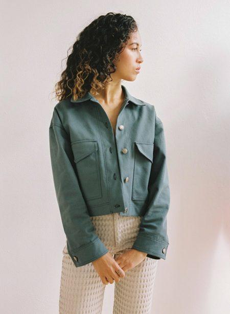 Aniela Parys Jamie Canvas Jacket - slate