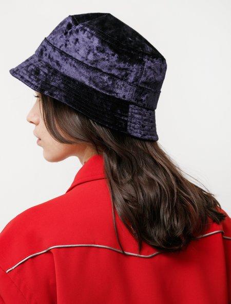 Needles Crushed Velvet Bucket Hat - Navy