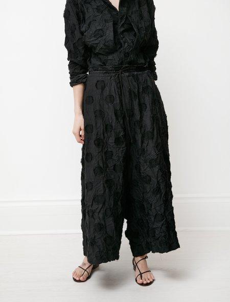 Y's by Yohji Yamamoto Dot Jacquard Drawstring Pants - Black