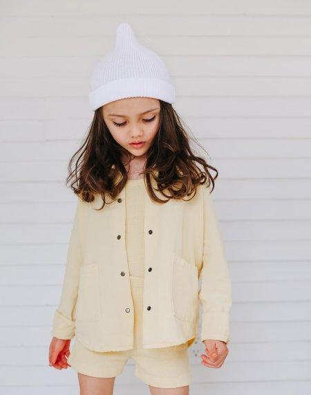 Kids Noble Organic Chore Jacket - Buttercream