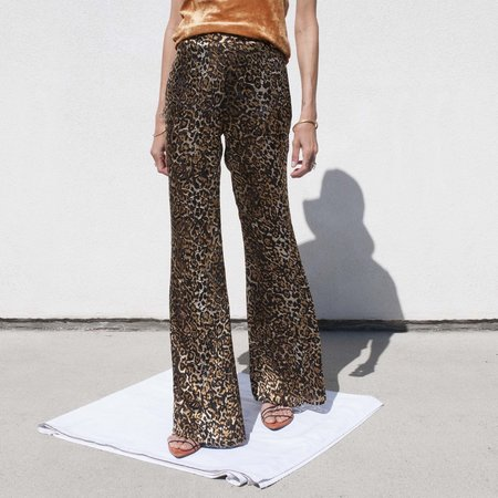 Priscavera Fitted Flare Pants - Leopard