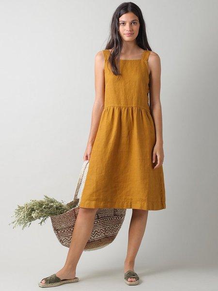 Indi & Cold Linen Pinafore Dress - Amber