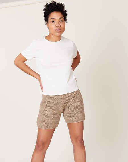 Lauren Manoogian Handknit Shorts - Sepia