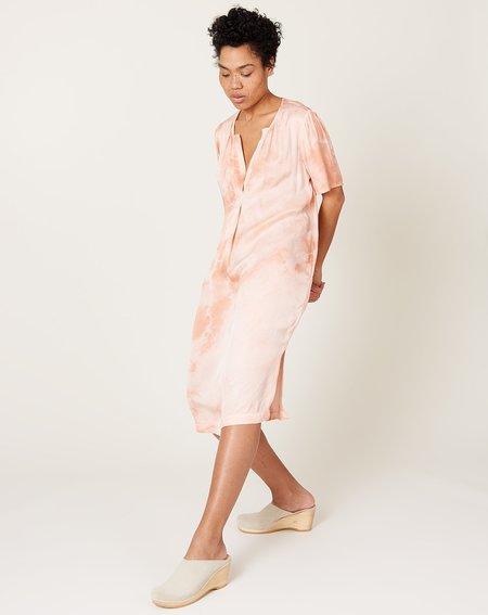 Raquel Allegra Lilakoi Dress - Apricot Cloudwash Tie Dye