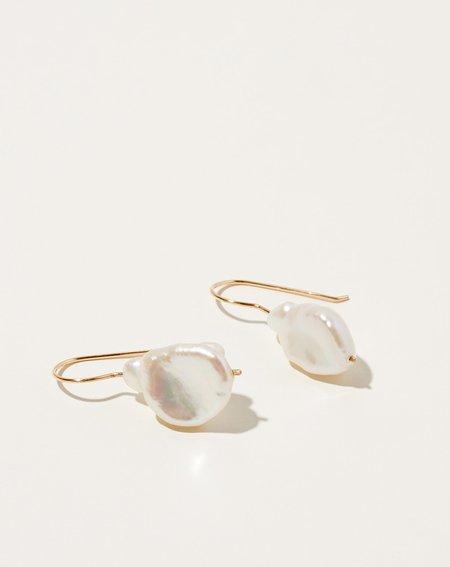 Bartleby Objects Loch Pearl Earring - 14k gold-fill