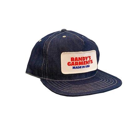 Randy's Garments Low Profile Trucker Hat - Indigo Raw Denim