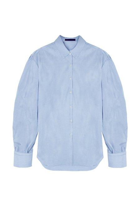KES Halo Cotton Button-Up shirt - Blue Pinstripe