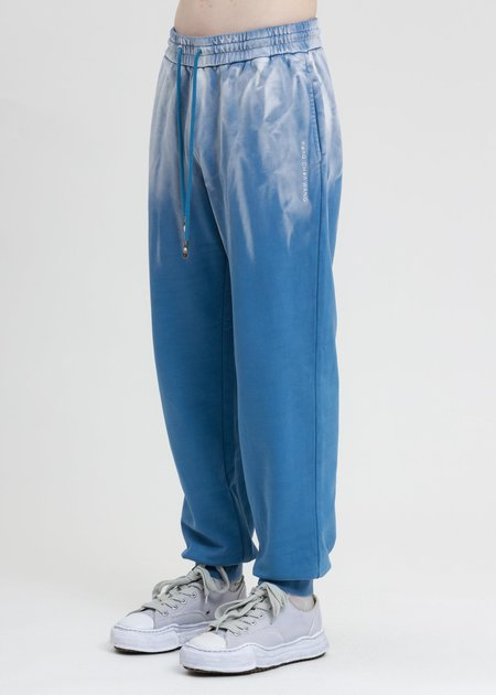 Feng Chen Wang French Terry Sweatpants with Gradient Tie Dye - Blue