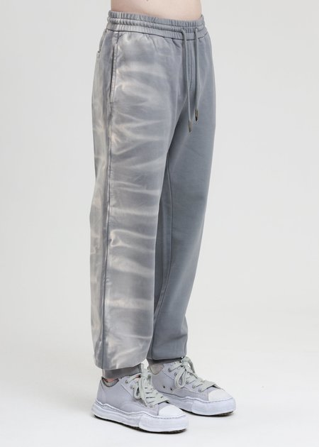 Feng Chen Wang French Terry Sweatpants with Gradient Tie Dye - Grey