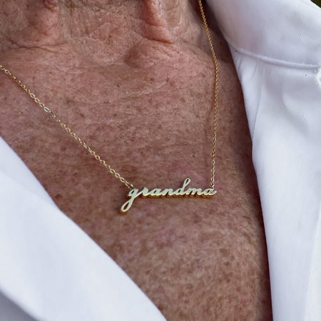 Thatch Grandma Script Necklace