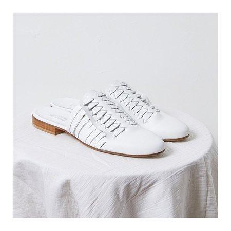 Atelier Delphine Woven Slides - white