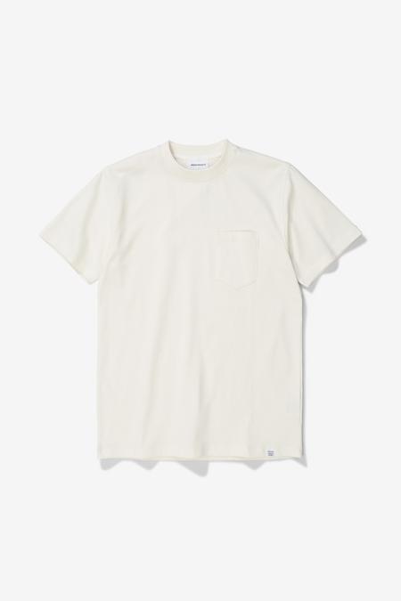 Norse Projects Johannes Pocket SS T-Shirt - Ecru