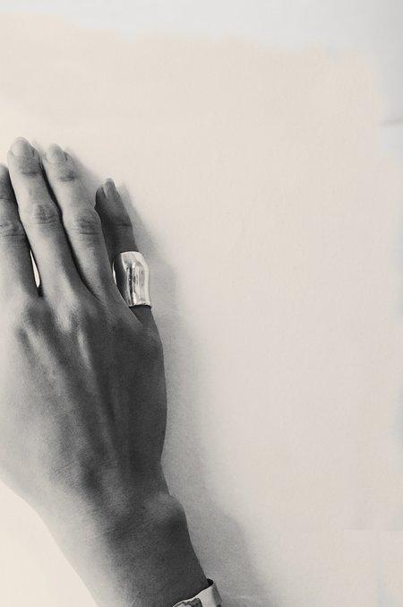 Hernán Herdez PINKY DE PLATA ring - Silver