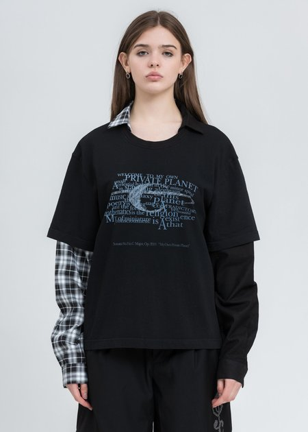 C2H4 Double Layer Long Sleeve - Black