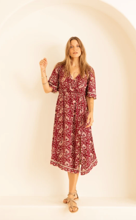 natalie martin coco dress - vintage flowers red