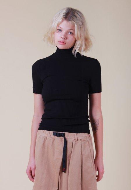 NOBODY DENIM Luxe Rib Turtle Neck T-Shirt - black