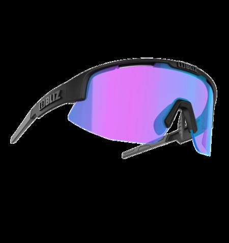 Bliz Matrix Small Face Glasses - Matte Black Frame/Begonia Blue Lens