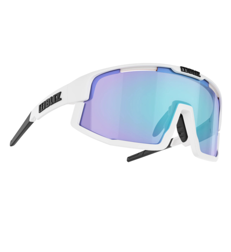 Bliz Vision White Frame with Blue Lens