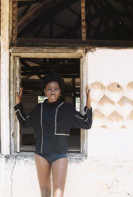 The Bibio Project AMA ALPACA SWEATER  - Black