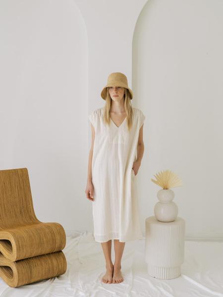 LAUDE the Label Sample Wynne Dress - Ivory Khadi