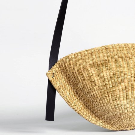 Inès Bressand Large Straw Oval Handbag - AKAMAE No.1