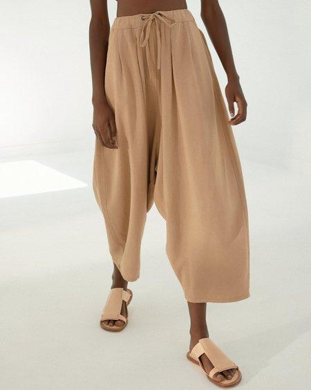 Mónica Cordera Maxi Linen Pants - Nougat