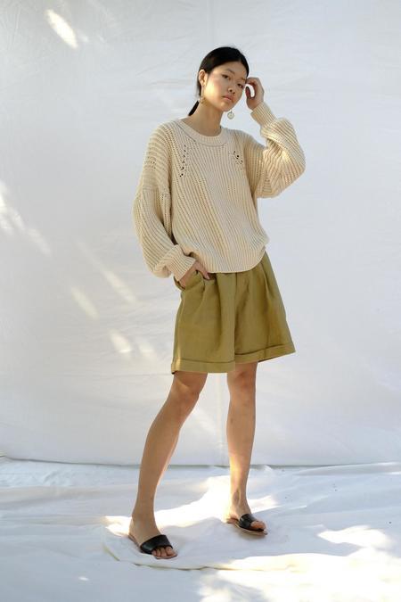 Micaela Greg Rei Pullover - Vanilla