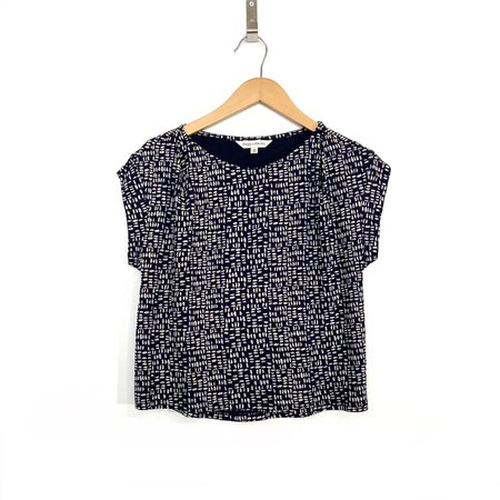 Dagg & Stacey Ferris Top - navy/cream print