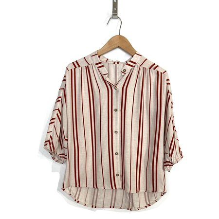 Dagg & Stacey Grove Blouse - Cherry Stripe