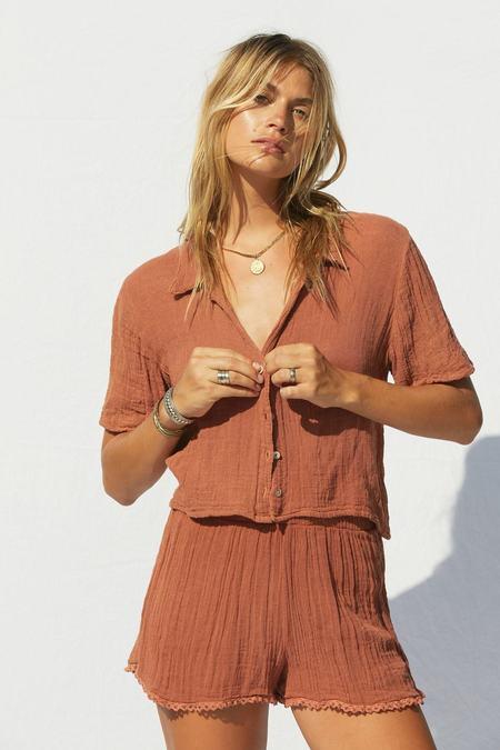 Jen's Pirate SAMPLE Booty Tafni Shorts - Rust