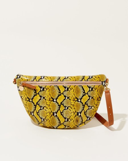 Clare V. Grande Fanny bag - Yellow Snake
