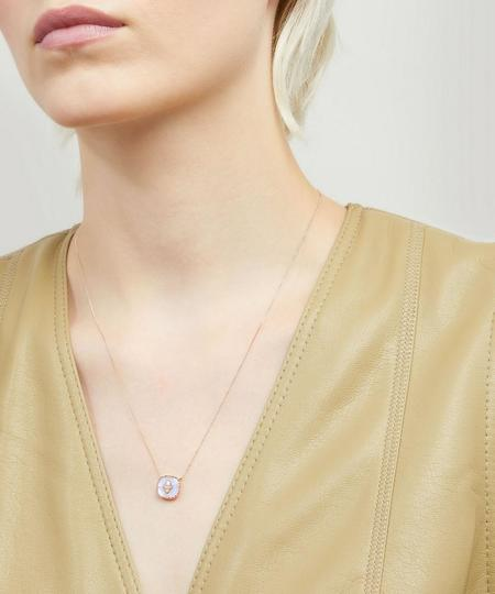 Pascale Monvoisin Pierrot N°2 Necklace - 9K PINK GOLD/MOONSTONE