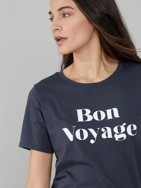 South Parade Bon voyage Lola Loose Tee - Smoke Black