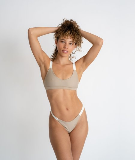 The Saltwater Collective Layla Top swim - Crepe/Ivory