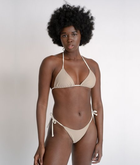 The Saltwater Collective Triangle Bottom - Crepe/Ivory