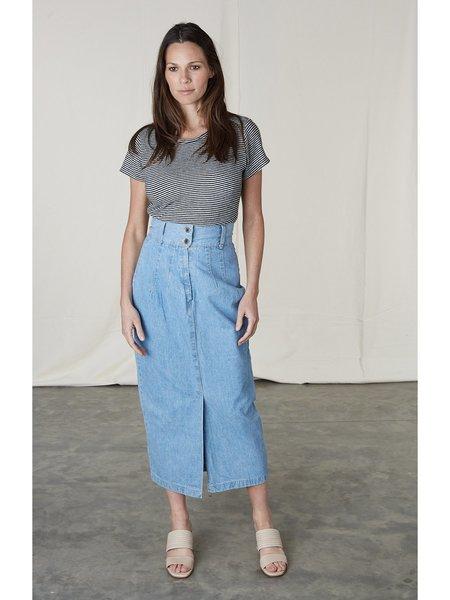 Vintage Kaight Denim Skirt - blue