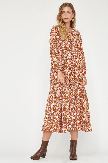 Lacausa Berkeley Floral Dress - Clay