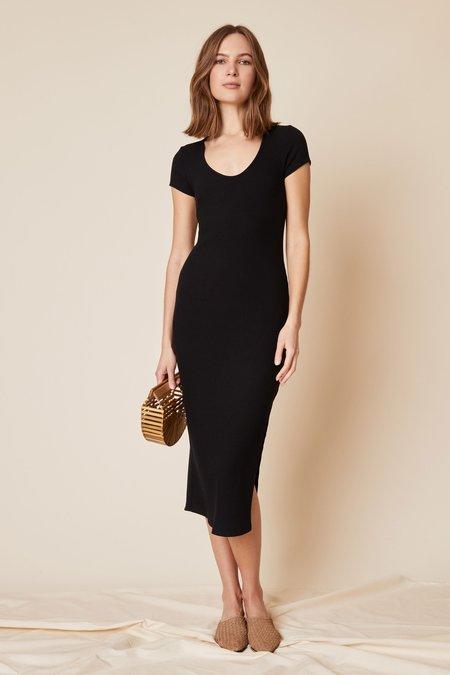 Whimsy + Row Rachel Dress - Black Rib