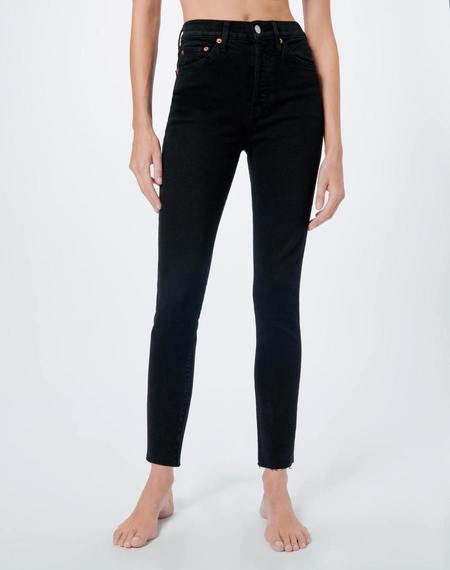 RE/DONE 90s Comfort Stretch High Rise Ankle Crop Jean - Black