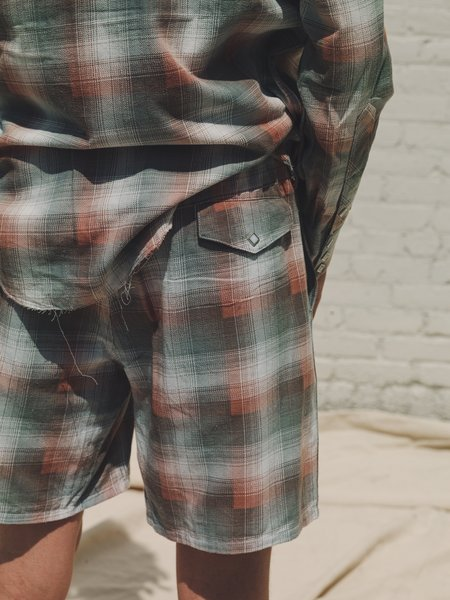The Letters Ombre Check Washed Flannel Easy Boxer Shorts