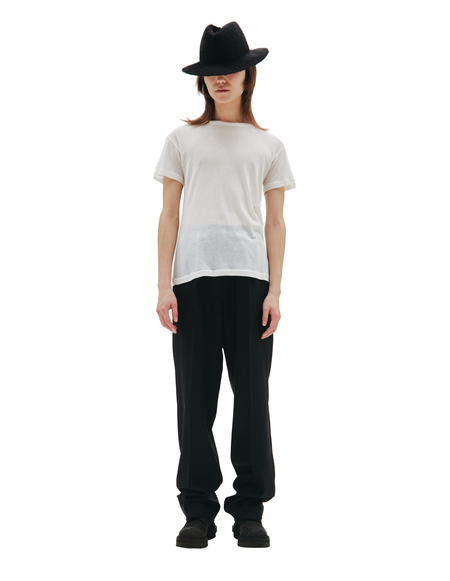 Maison Margiela Cotton and Silk Tee shirt - White