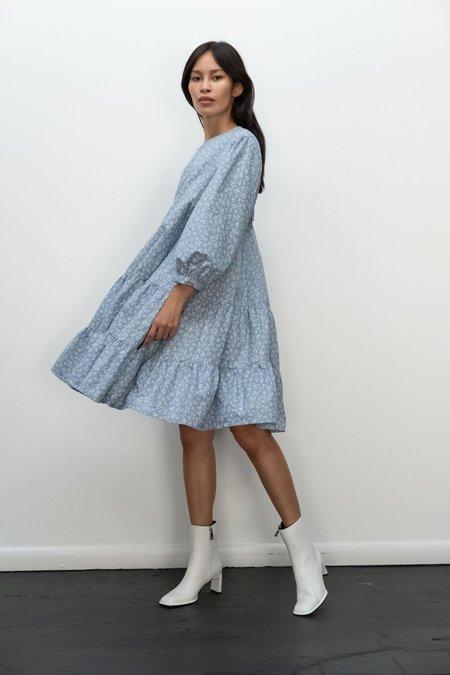 Kurt Lyle KLXTV Emmy Dress - Floral Blue Chambray