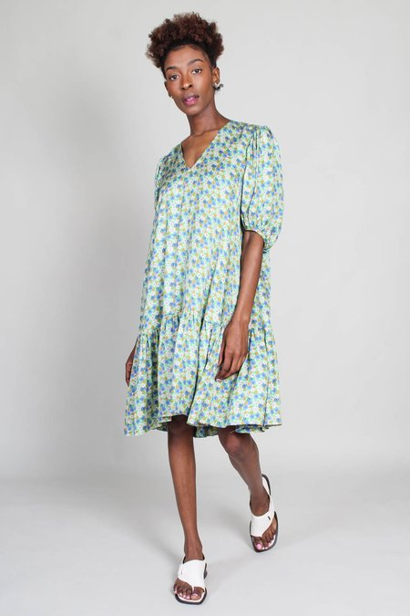 No.6 Iris Dress - Cream Pansy