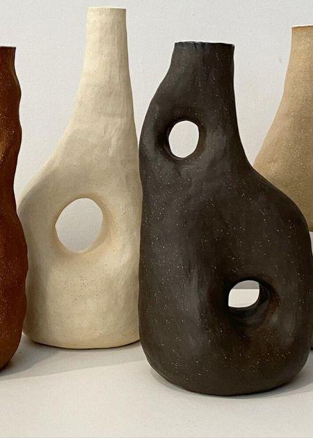 Tania Whalen Ceramics Landscape bottle forms