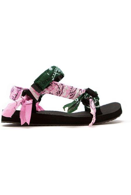 Arizona Love Trekky Bandana sandals - Pink/Green