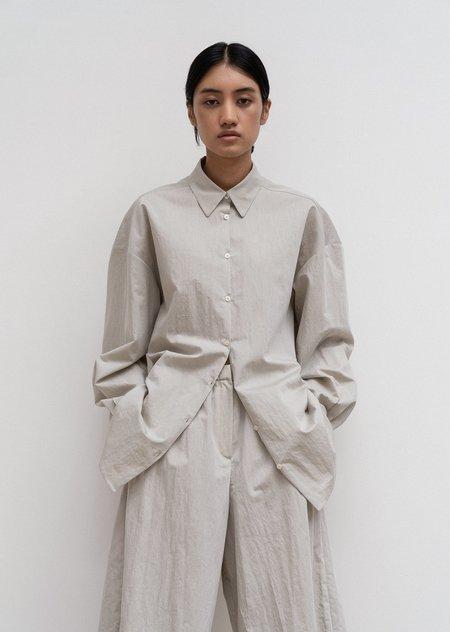 AMOMENTO Oversize Shirt - Sage Green