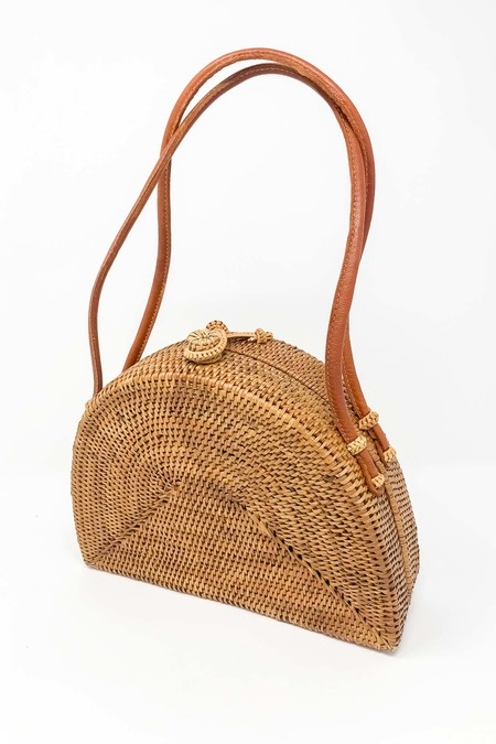 Mini Tote with Leather Handle