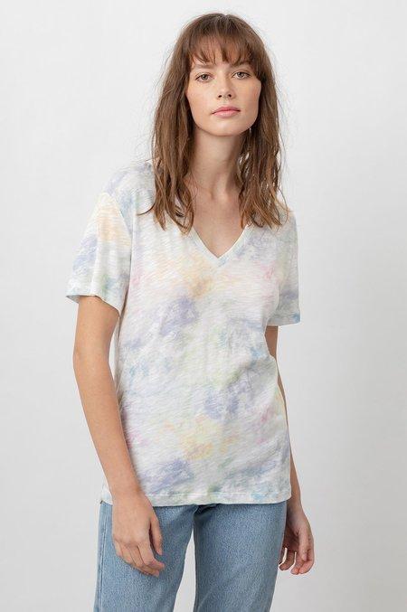 Rails Cara V-Neck top - Rainbow Tie Dye