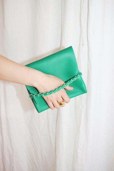 ARA Handbags Bebe Fold Over Clutch - Green
