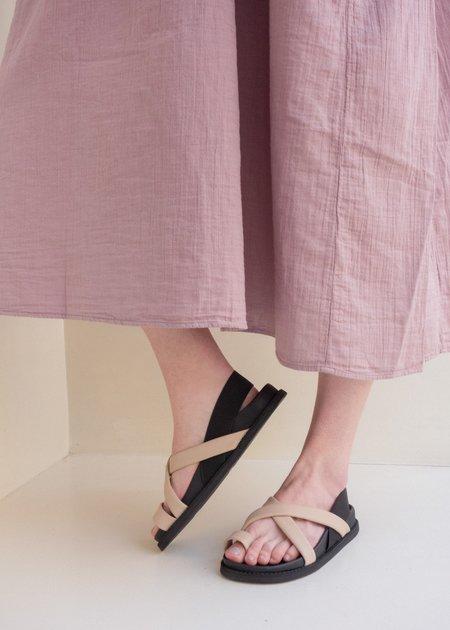 Atelier Delphine Mizugumo Sandal - Ivory/Black